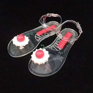 Katy Perry Cherry Jelly Sandals 7 - NIB